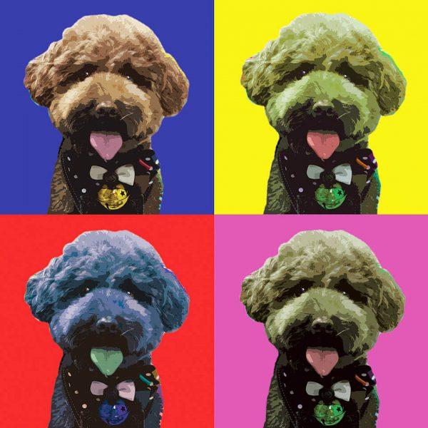 Pop Art Photo Effect dog