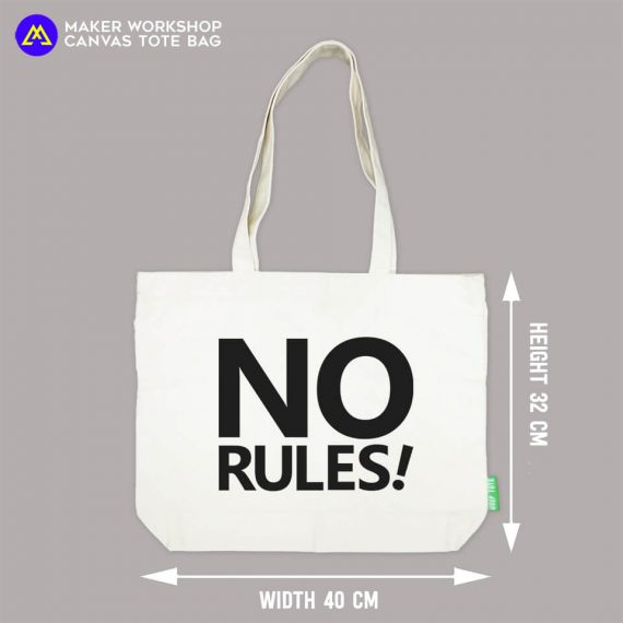 No Rules Tote Bag