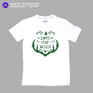 INTO THE WILD Message T-Shirt