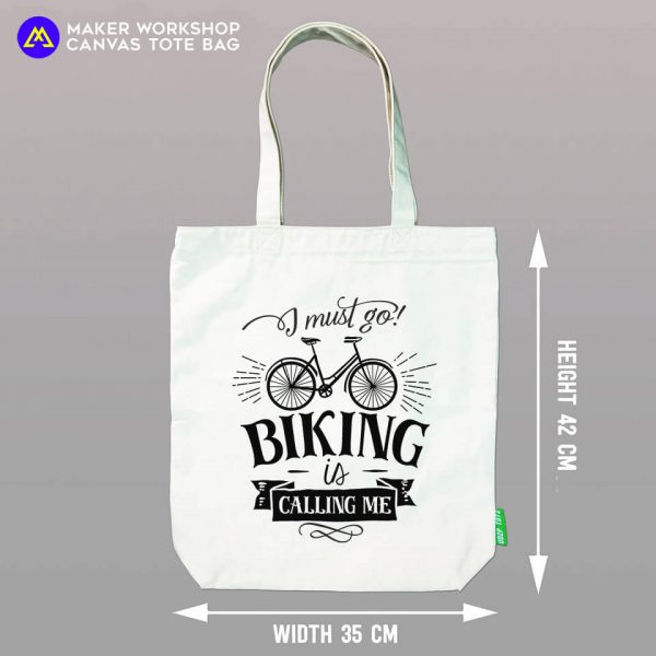 I Must Go Biking TOTE BAG