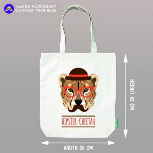 Hipster Tiger Tote Bag