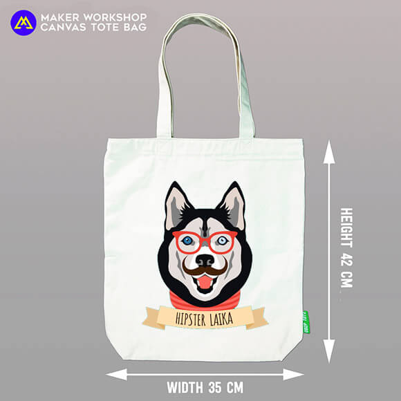 Hipster Laika Tote Bag