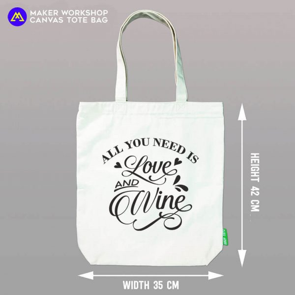 All You Need is Love & Wine tote bag