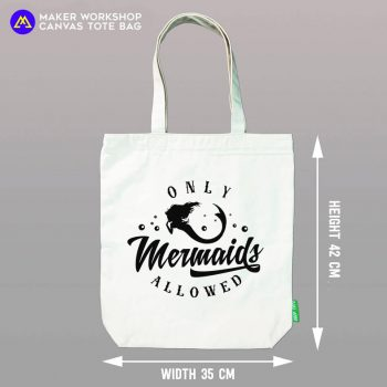 Only Mermaid Allowed Tote Bag