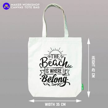 The Beach is Where I Belong Tote Bag