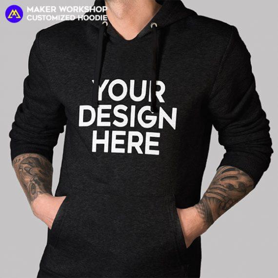 custom hoodie black