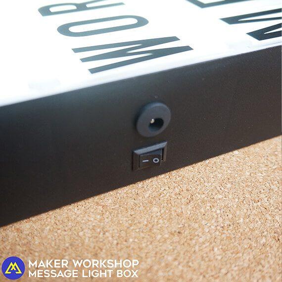 Maker Workshop DIY Message Letter Light Box
