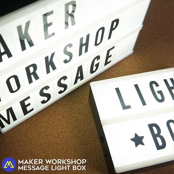 Maker Workshop DIY Message Letter Light Box