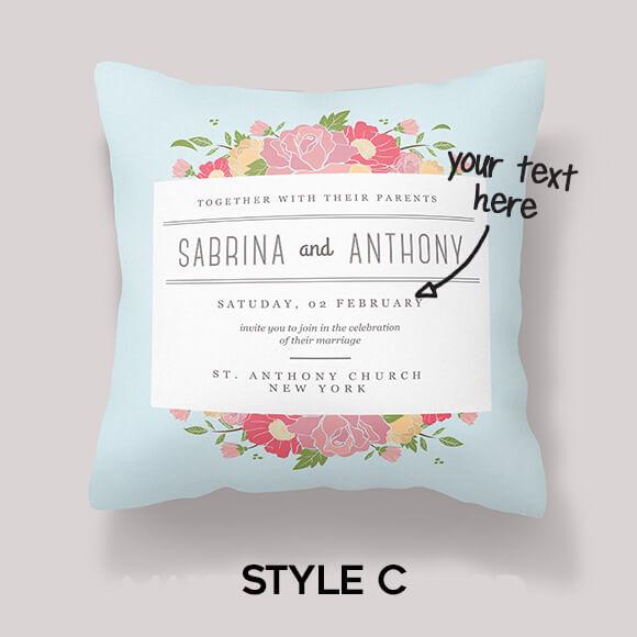 wedding cushion gift