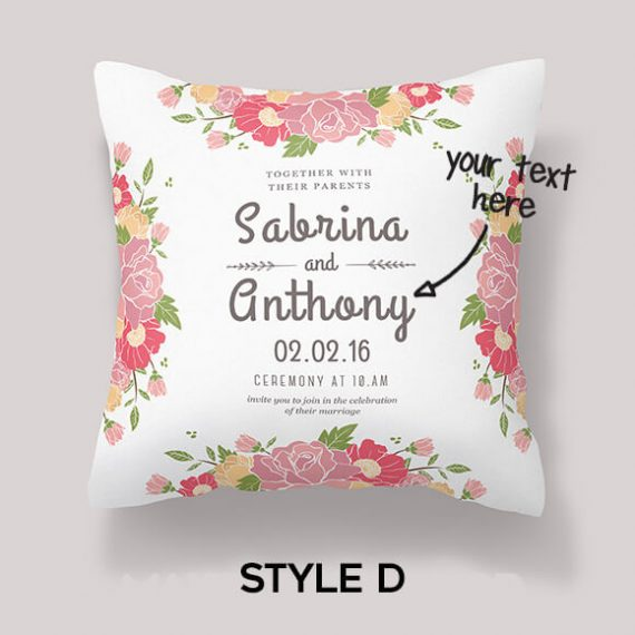 wedding cushion gift