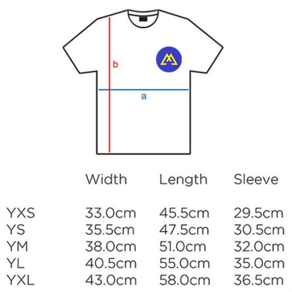 kid t-shirt size chart