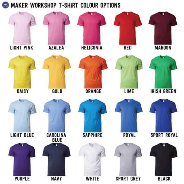 colour t-shirt options