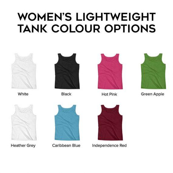 Women's Tank Colour Options