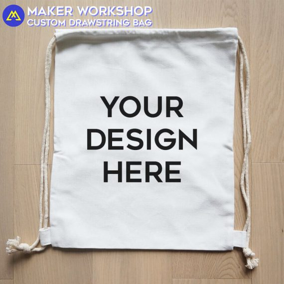 Maker Workshop Custom Drawstring Bag